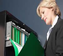 Businesswomanreadingfile