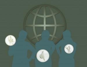 Human shadow figures